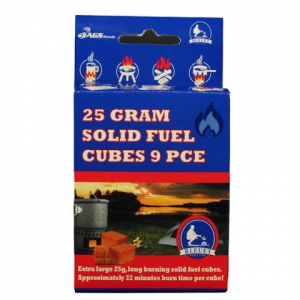 Bleuet 25 Gram Solid Fuel Cubes : 9 Count For Bleuet Pocket Stove
