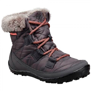 Columbia Youth Minx Shorty Omni - Heat Waterproof Winter Boot - Shark / Melonaide
