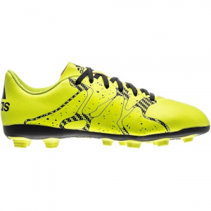 Adidas Youth X 15 . 4 Fxg Soccer Cleats - Solar Yellow / Core Black