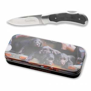 Browning Lab Puppy Knife And Tin