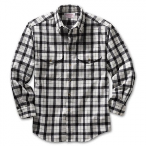Filson Mens Alaskan Guide L / S Shirt - Cream / Black