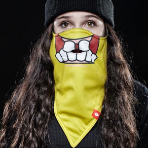 Airhole Youth Bob Standard 1 Face Mask - Yellow