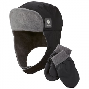 Columbia Youth Earflap / Mitten Set - Black