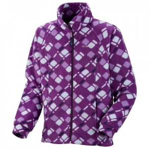 Columbia Youth Girls Benton Springs Printed Fleece - Iris Glow