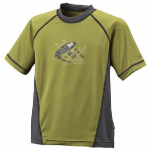 Columbia Boys Youth Backpaddle Short Sleeve Shirt - Limestone