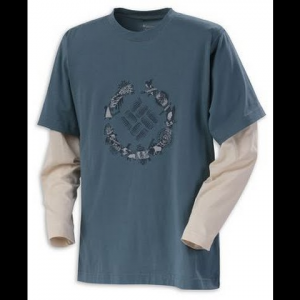 Columbia Youth Boy ' S Weasel Cove Crew Tee - Tidewater
