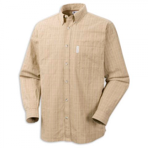 Columbia Mens Klickitat Trail Plaid Shirt - Natural