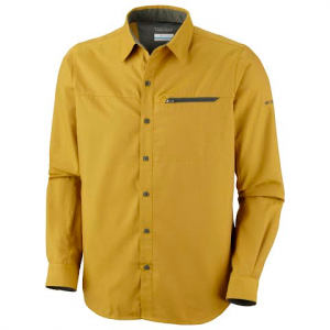 Columbia Men ' S Cool Creek Colid Long Sleeve Shirt - Gold Leaf