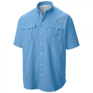 Columbia Mens Bahama Ii Short Sleeve Shirt ( Tall ) - Sail