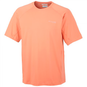 Columbia Men ' S Pfg Freezer Zero Short Sleeve Shirt - Bright Peach