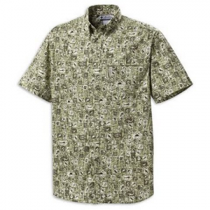 Columbia Hula Creek Ii Print Short Sleeve Shirt - Olive Green