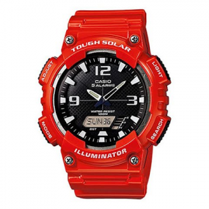 Casio Solar Powered Sports Watch - Red / Black