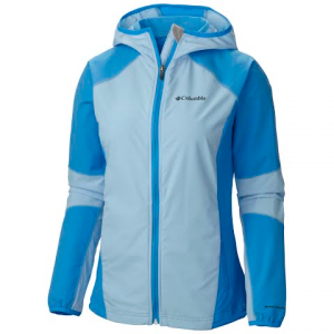 Columbia Women ' S Sweet As Softshell Hoodie - Harbor Blue