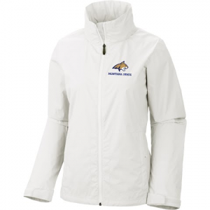 Columbia Women ' S Msu Bobcats Switchback Rain Jacket - Sea Salt