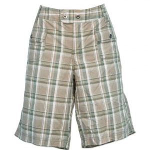 Columbia Women ' S Sydney Harbor Plaid Short - Sage Multi