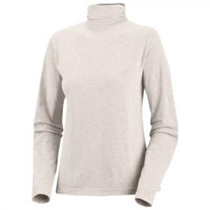 Columbia Women ' S Greenway Long Sleeve Mock Neck Top ( Plus Sizes ) - Winter White
