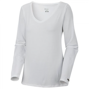 Columbia Women ' S Greenway T Iv Long Sleeve Top - White