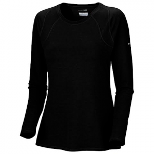 Columbia Women ' S Layer First Long Sleeve Crew Top - Black