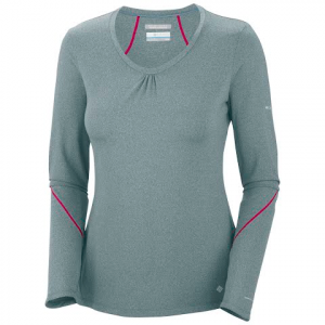Columbia Women ' S Trail Crush Long Sleeve Top - Niagra Heather