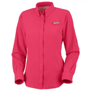 Columbia Women ' S Tamiami Long Sleeve Shirt ( Extended Sizes ) - Bright Rose