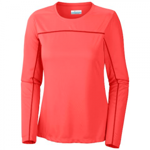 Columbia Women ' S Insect Blocker Knit Long Sleeve - Hot Coral