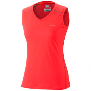 Columbia Women ' S Zero Rules Sleeveless Shirt - Laser Red