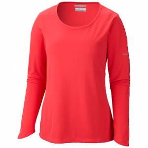 Columbia Women ' S Skiff Guide Long Sleeve Shirt - Tango Pink