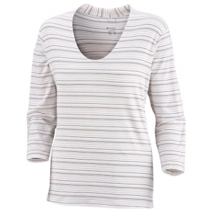 Columbia Women ' S Gridskipper Stripe 3 / 4 Sleeve Top - White