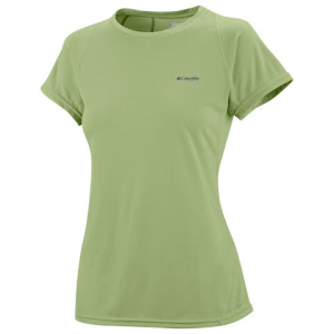 Columbia Women ' S Silverridge Knit Short Sleeve Top - Lemon Grass