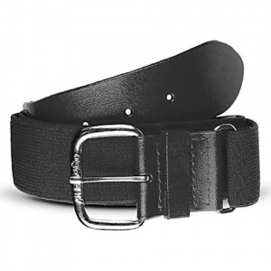 All Star 1 1 / 4 Inch Elastic Baseball Belt - Black