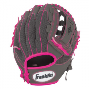 Franklin Youth 10 . 5 In . Infinite Web / Shok - Sorb Teeball Glove ( Graphite / Pink ) - Graphite
