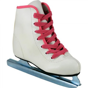 American Athletic Youth Girl ' S Preschool Little Rocket Double Runner Ice Skate - White