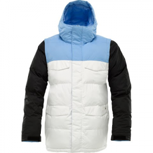Burton Mens Deerfield Puff Snowboarding Jacket - Blue 23 Colorblock