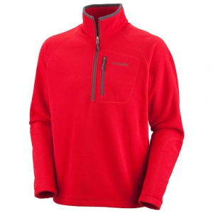 Columbia Mens Fast Trek Ii Half Zip Fleece - 632flame