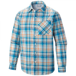 Columbia Mens Bugshield Plaid Long Sleeve Shirt - 433hyperblue