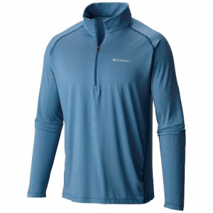 Columbia Men ' S Tuk Mountain Half Zip Shirt - Night Tide