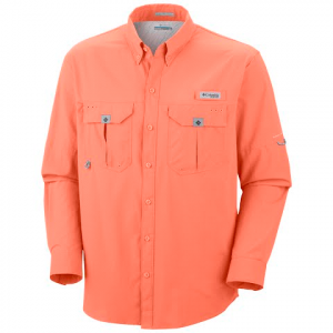 Columbia Men ' S Blood And Guts Ii Long Sleeve - Bright Peach