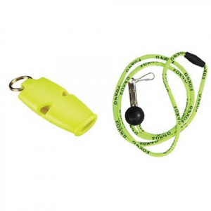 Fox 40 Micro Safety Whistle With Landyard - Neon