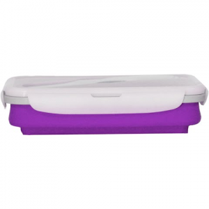 Eco Vessel Collapsible Silicone Single Compartment Lunchbox - Purple