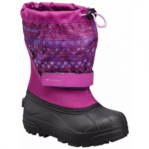 Columbia Youth Toddler Powderbug Ii Winter Boot - Intense Violet / Purple Arrow