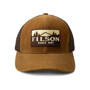 Filson Men ' S Logger Mesh Cap - Blaze Orange