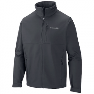 Columbia Men ' S Ascender Softshell Jacket ( Tall ) - Graphite / Antique Moss