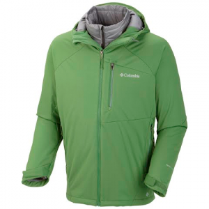 Columbia Men ' S Versalite Softshell Interchange Jacket - Dark Backcountry