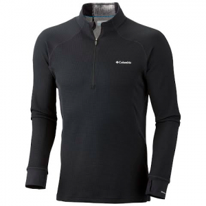 Columbia Men ' S Heavyweight 1 / 2 Zip Baselayer - Black