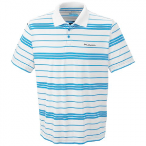 Columbia Mens Utilizer Stripe Polo Shirt - Bounty Blue