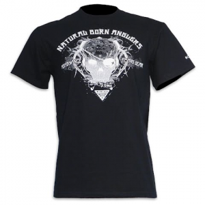 Columbia Men ' S Natural Born Anglers Tee - Black
