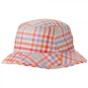 Columbia Women ' S Bahama Bucket Hat - Hot Coral Plaid