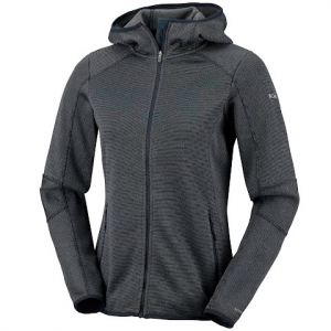 Columbia Women ' S Altitude Aspect Hooded Fleece Jacket - Black Stripe