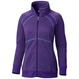 Columbia Women ' S Heather Hills Full - Zip - Hyper Purple