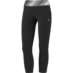 Adidas Women ' S Ultimate Twist 3 / 4 Tights - Black / Night Shadow